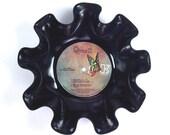 Queen Vinyl Record Bowl Vintage LP Album 1974 (Queen II) Colorful Butterfly Label