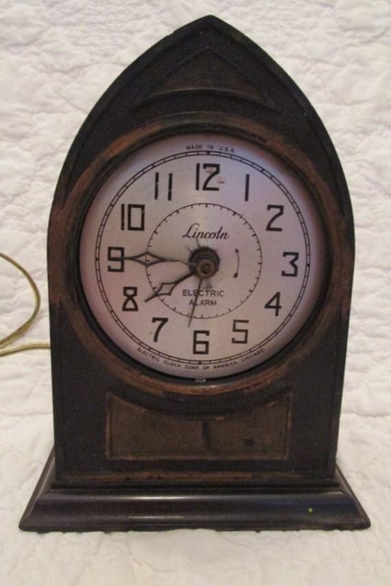 Electric Alarm Clock ~ Antique lincoln electric alarm clock needs work sale