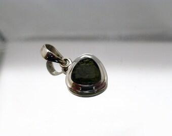 Moldavite sterling silver pendant / necklace