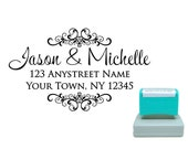 Personalized Self Inking Pre Inked Custom Made Return Address Stamp R158