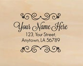Custom Made Wedding Address Rubber Stamp Personalized Name R299 option to purchase digital file only