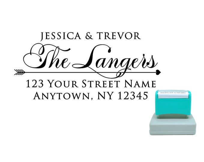 Personalized Self Inking Return Address Stamp - self inking address stamp - Custom Rubber Stamp R217