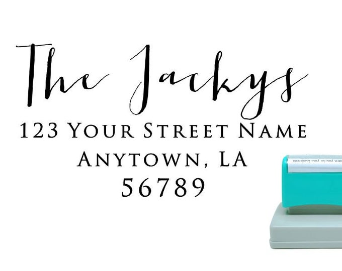 Personalized Self Inking Return Address Stamp - self inking address stamp - Custom Rubber Stamp R277