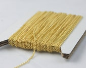 Gold Plated Chain Bulk, 10 ft of Tiny Round SOLDERED Chain Cable Chain 1.6x1.4mm- Free Adequate Jump Rings 50pcs Necklace Wholesale