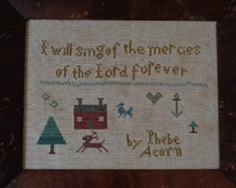 Primitive Cross Stitch Pattern MERCIES of the LORD PDF
