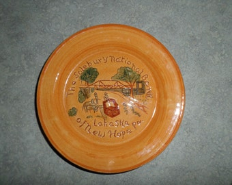 Stangl Pottery The Solebury National Bank New Hope Lahaska PA hand carved bridge Delaware River