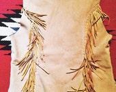 reconstructed deerskin vest