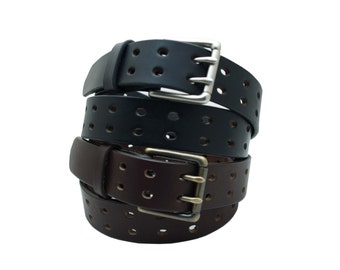 Double Hole Leather Belt