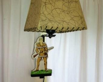 Original Vintage Davy Crockett Wall Light by Barneche/ Stephanie Barnes