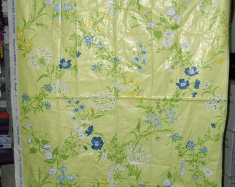 Vintage English Cloth Fabric Material Sample - Flower Trellis (Potpourri Collection) by Greeff