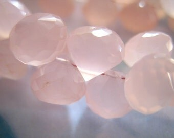 Shop Sale.. 2 4 10 pcs, 8.5-9.5 mm, CHALCEDONY Onion Briolettes Beads, Luxe AAA, Light Pink, brides bridal weddings 810 solo
