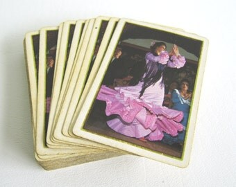 Vintage Spanish Flamenco Dancer Playing Cards Deck of Cards & Case Made in Spain