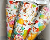 Inventory Reduction Sale Item Vintage Circus Clowns Paper Cones (20 count)