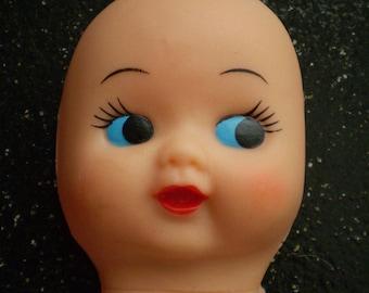 Vintage Soft Rubber Doll Mask Face
