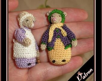 Amigurumi twin mice, digital crochet pattern