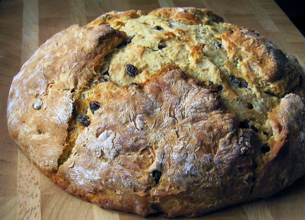 Irish Soda Bread with Raisins and Caraway by SweetInnocentBakery