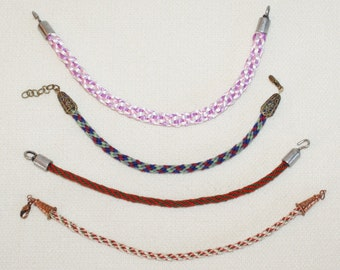 Kumohimo Braid Bracelets for Wrists or Ankles