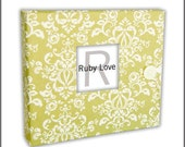 Sage MOD Damask Album | Unique Baby Memory Book