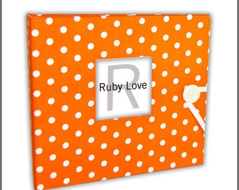 BABY BOOK | Orange Baby Dot Baby Book | Ruby Love Modern Baby Memory Book