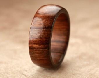 Custom Tamboti Wood Ring - 8mm
