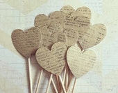 1 Dozen Heart Cupcake Picks