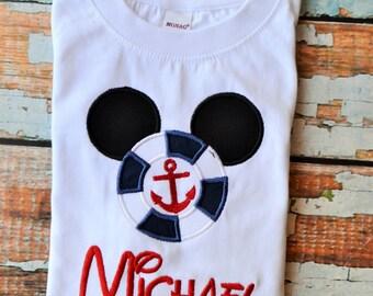 Mickey Mouse Cruise Shirt, Mickey Mouse Anchor Shirt, Disney Cruise Shirt