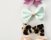 Juniper- Set of 4 bows/headbands