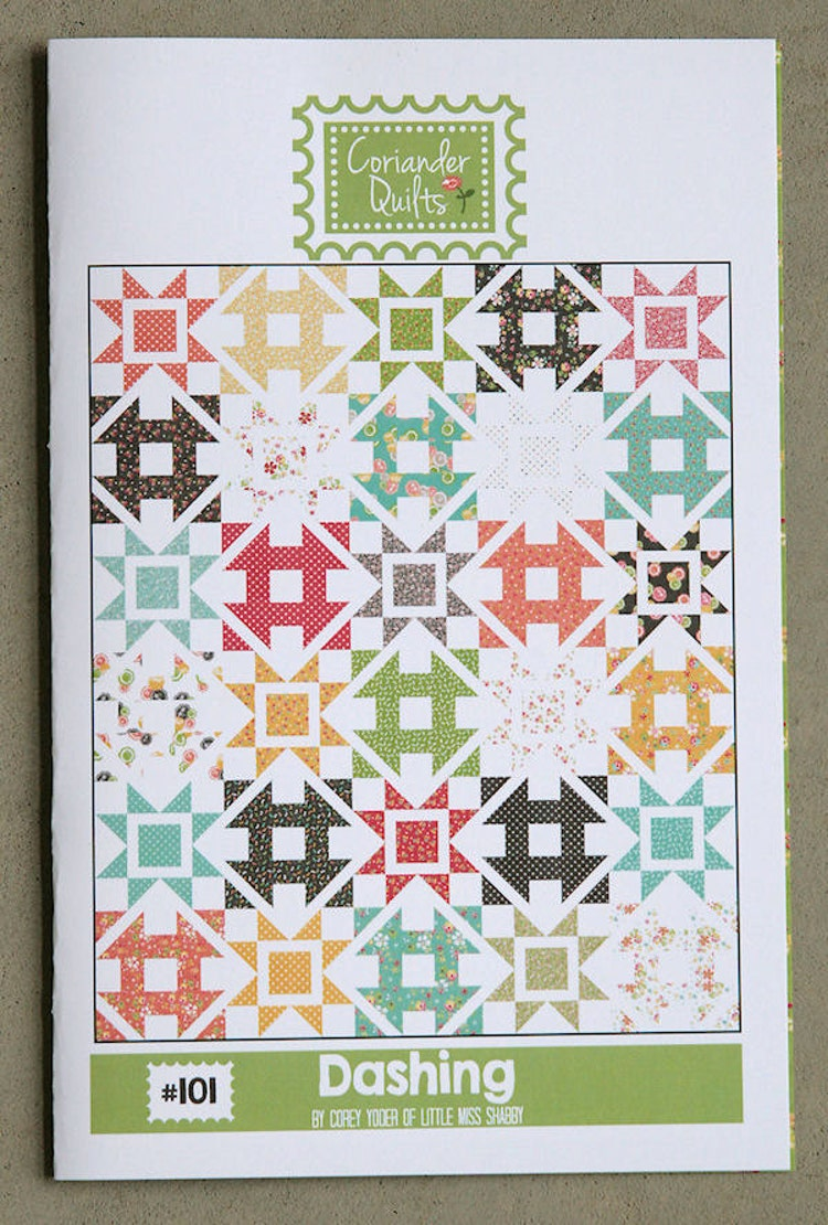 Dashing Pattern 101 Pdf Quilt Pattern By Corianderquilts