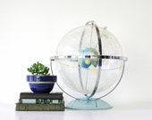 Vintage T N Hubbard Celestial Globe - Mid Century - Constellations - Outer Space - Blue - Pastel - Home Decor - Lucite - Educational