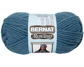 Bernat Roving Yarn Cobalt Blue Lot of 6 Skeins or Burgandy 6 Skeins or Black 3 Skeins-sealed