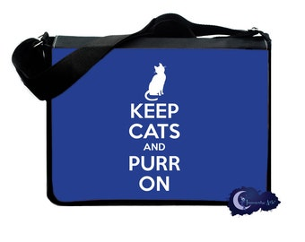 Keep Cats and Purr On -  Messenger and Laptop Computer Bag