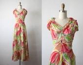 la sylphide gown / 30s gown / ballerina print gown