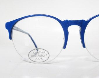 Cobalt blue glasses Etsy
