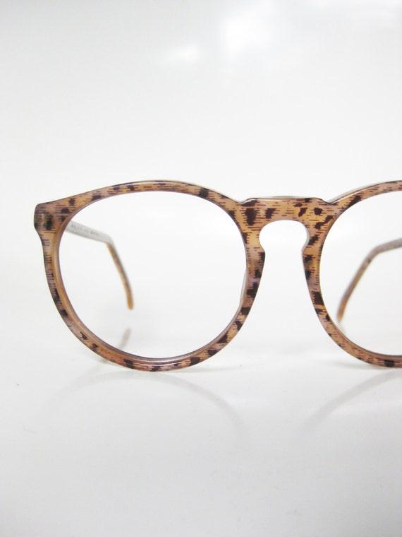 Lafont Round Eyeglass Frames : Jean Lafont Eyeglasses 1960s Round P3 Keyhole Bridge Leopard