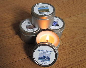 ILLINOIS SAMPLER (four 2-oz soy candles)