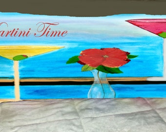Martini Time body pillow case  from my art