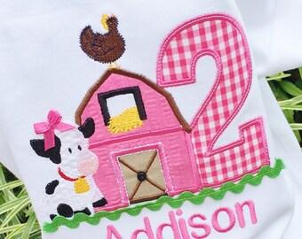 Girls Barnyard Birthday,girls farm shirt, Girls Farm Birthday,Girls Farmyard shirt, Girls 1st Birthday, Girls Barn Birthday