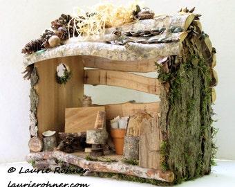 Woodland Fairy House Garden Art Studio Custom Whimsical Hand Sculpted Nature
