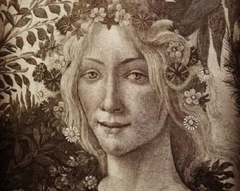 Head of Flora Digital Download from Rustysecrets