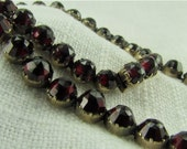 RESERVED Third Payment for M.  Circa 1910 Antique Garnet Necklace