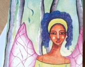 African American 'Fairy of the Forest' Greeting Card