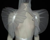 Wedding Cosplay High Drama Tulle Bolero Shrug WHITE Bride Perfect for photo prop