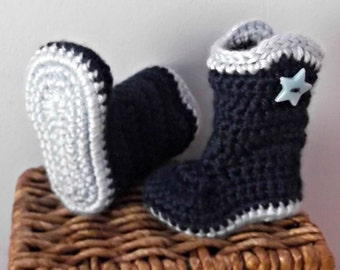 Baby Cowboy or Cowgirl Boots - newborn - ready to ship