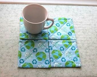 love our earth set of mug rugs