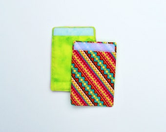 Luggage Handle Wraps set of two reversible Primal Stripe travel gift teacher gift Quiltsy Handmade
