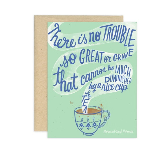 Nice Cup of Tea Illustrated Greeting Card