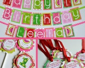 RESERVED for Jessica - Watermelon Birthday Party Decorations Fully Assembled