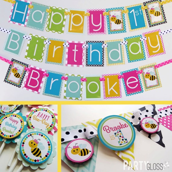 Bee Birthday Party Decorations Package Fully Assembled