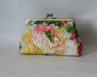 Bridesmaids Clutch - Floral Clutch - Bridesmaids Gifts - Wedding Clutch - Pink Floral Purse - Phoebe Clutch