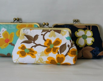 Wedding Clutches - Bridesmaids Clutches - Wedding Gifts - Floral Bridal Clutch Set - Bridesmaid Gifts - Bridal Clutch Set - Set of 6